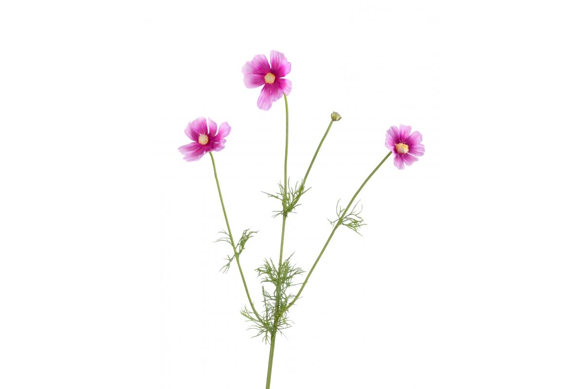 Космея Элегант искусственная сиренево-розовая ветвь 67 см