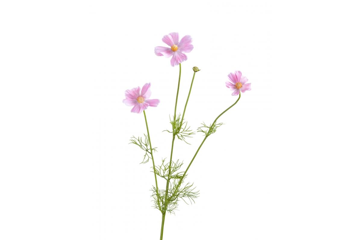 Космея Элегант искусственная нежно-розовая ветвь 67 см