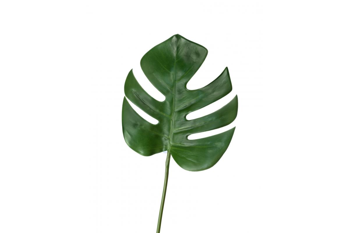 Лист Монстеры искусственный зеленый 82 см