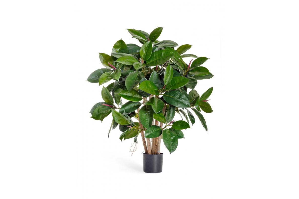 Фикус Эластика искусственный зеленый 90 см