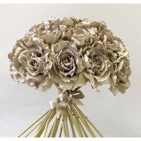 Букет из 25 Роз Ретро Романс искусственный шампань 55 см