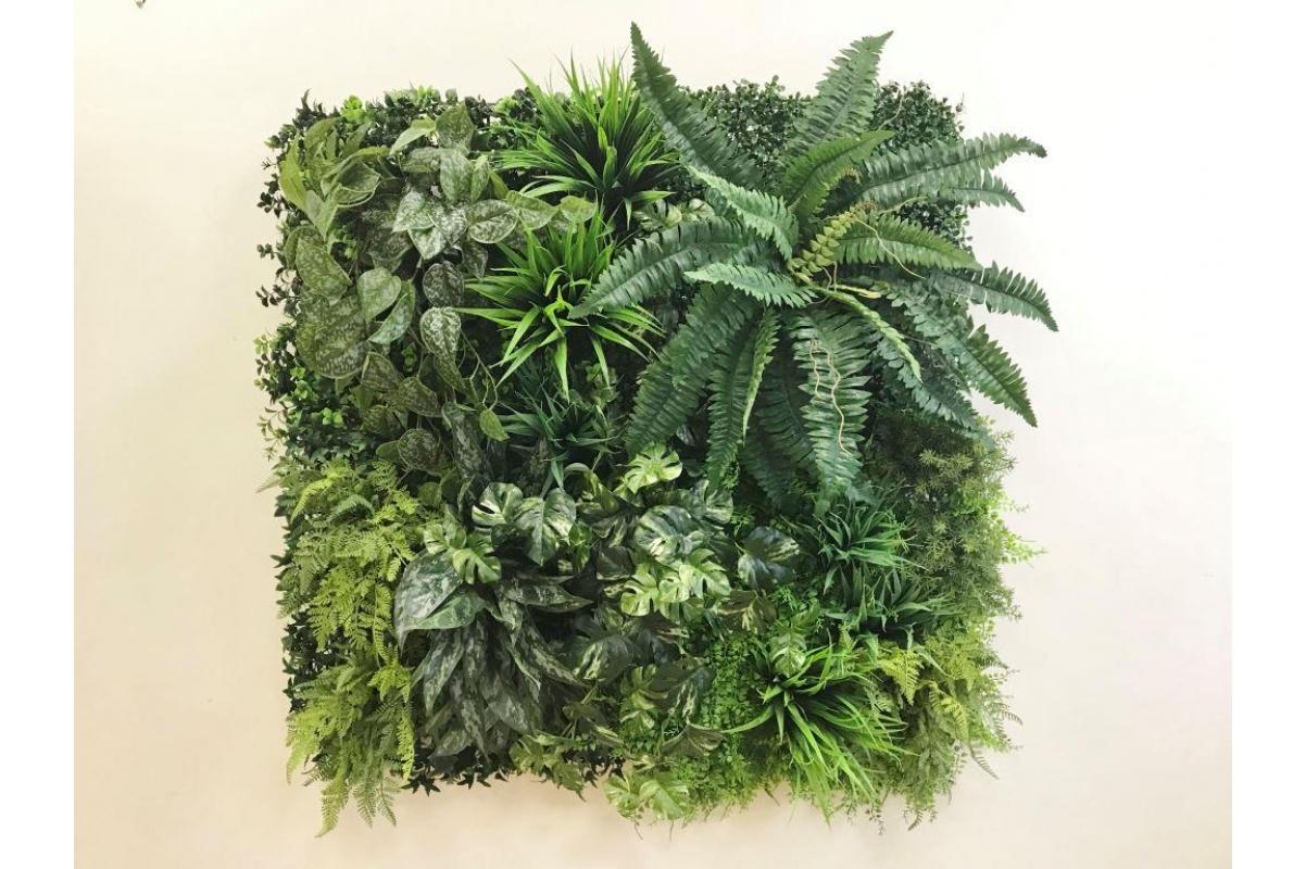 Фитостена из искусственных растений «Джунгли» 1м2