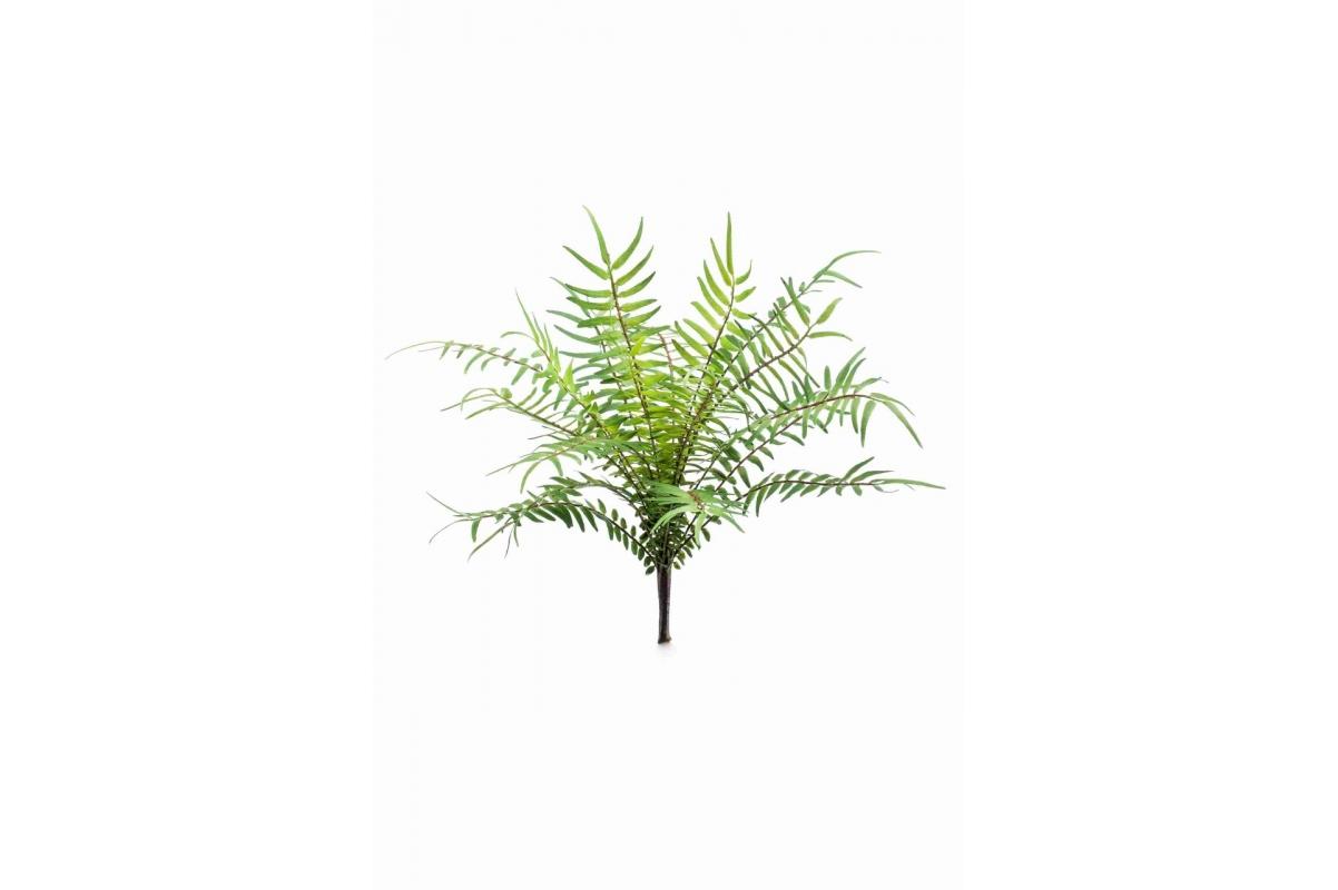 Папоротник Блехнум куст искусственный зеленый 25 см