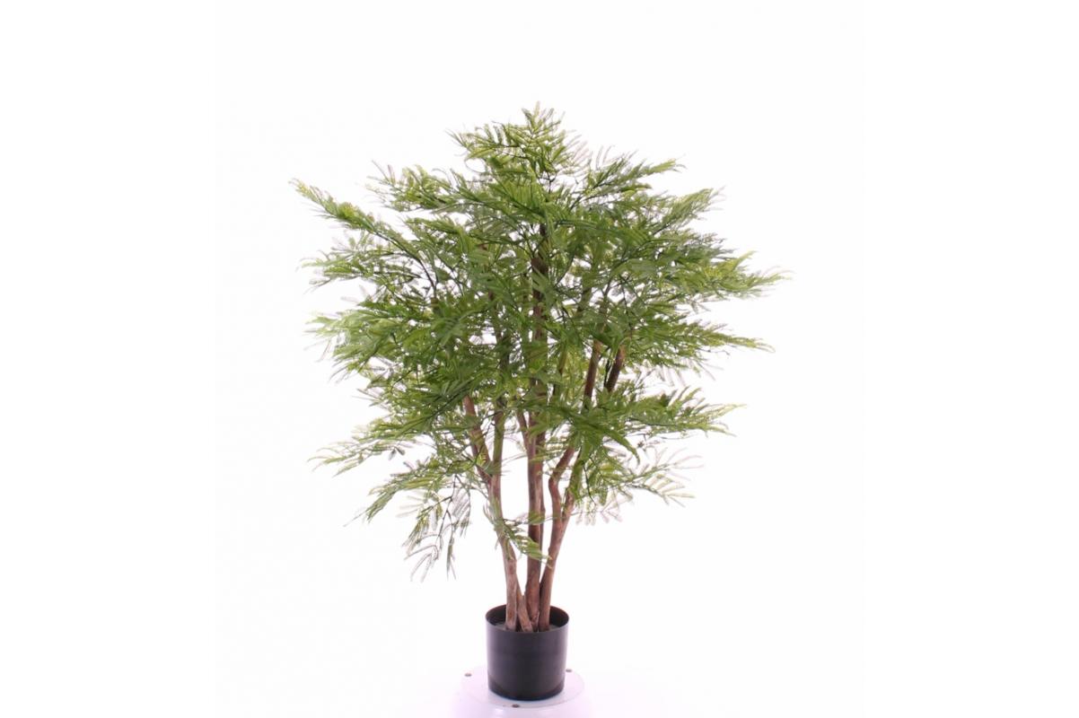 Дерево Мимозы искусственное зеленое 110 см