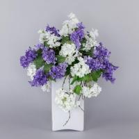 Композиция Сирень в стеклянной вазе искусственная 54 см
