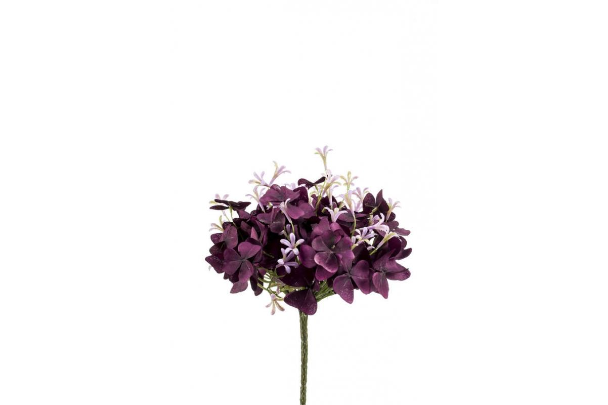Оксалис (Кислица) куст искусственный сиренево-бордовый 24 см