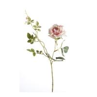 Роза Диана искусственная светло-розовая 75 см