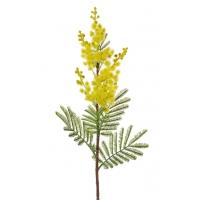 Мимоза ветка искусственная желтая 60 см