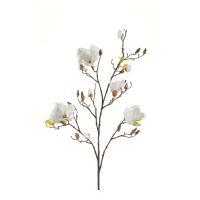 Магнолия ветка искусственная белая 105 см