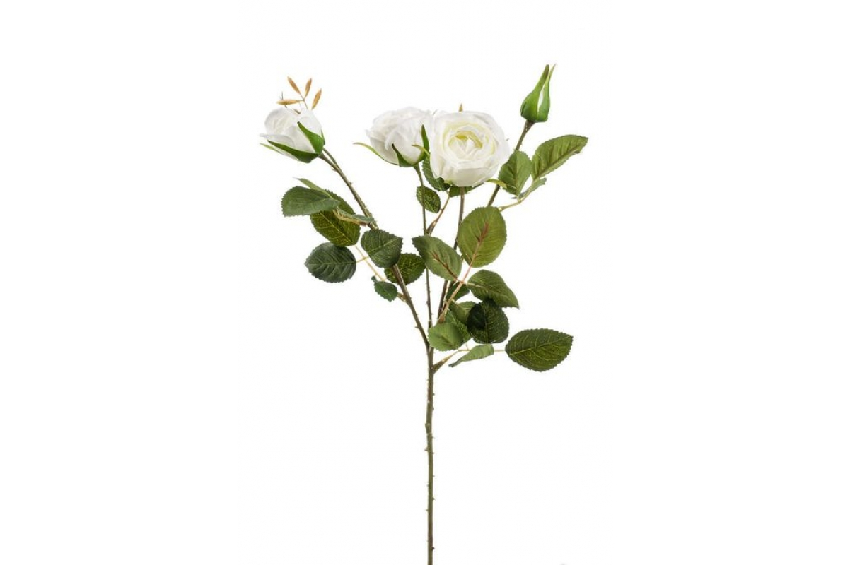 Роза Пегги искусственная кустовая белая 60 см