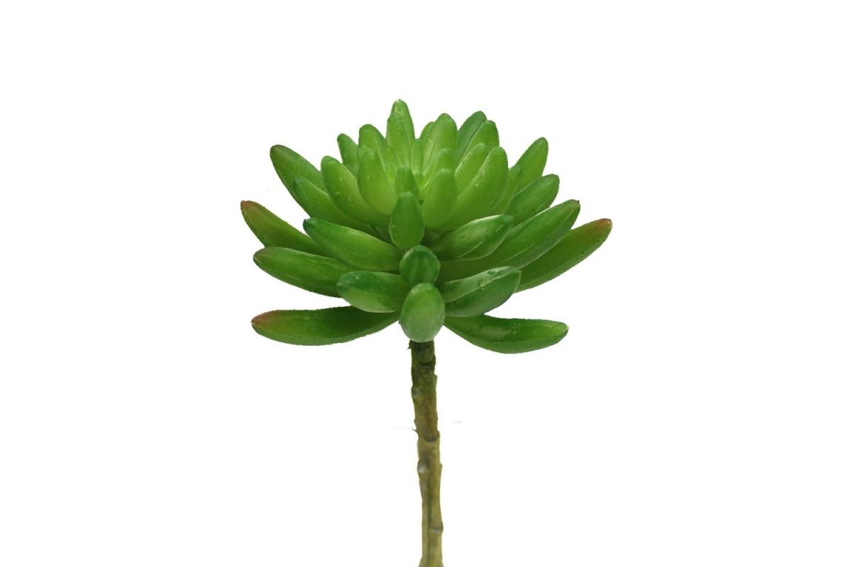 Суккулент малый с ножкой искусственный зеленый 15 см