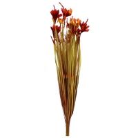 Трава искусственная с красным соцветием 78 см