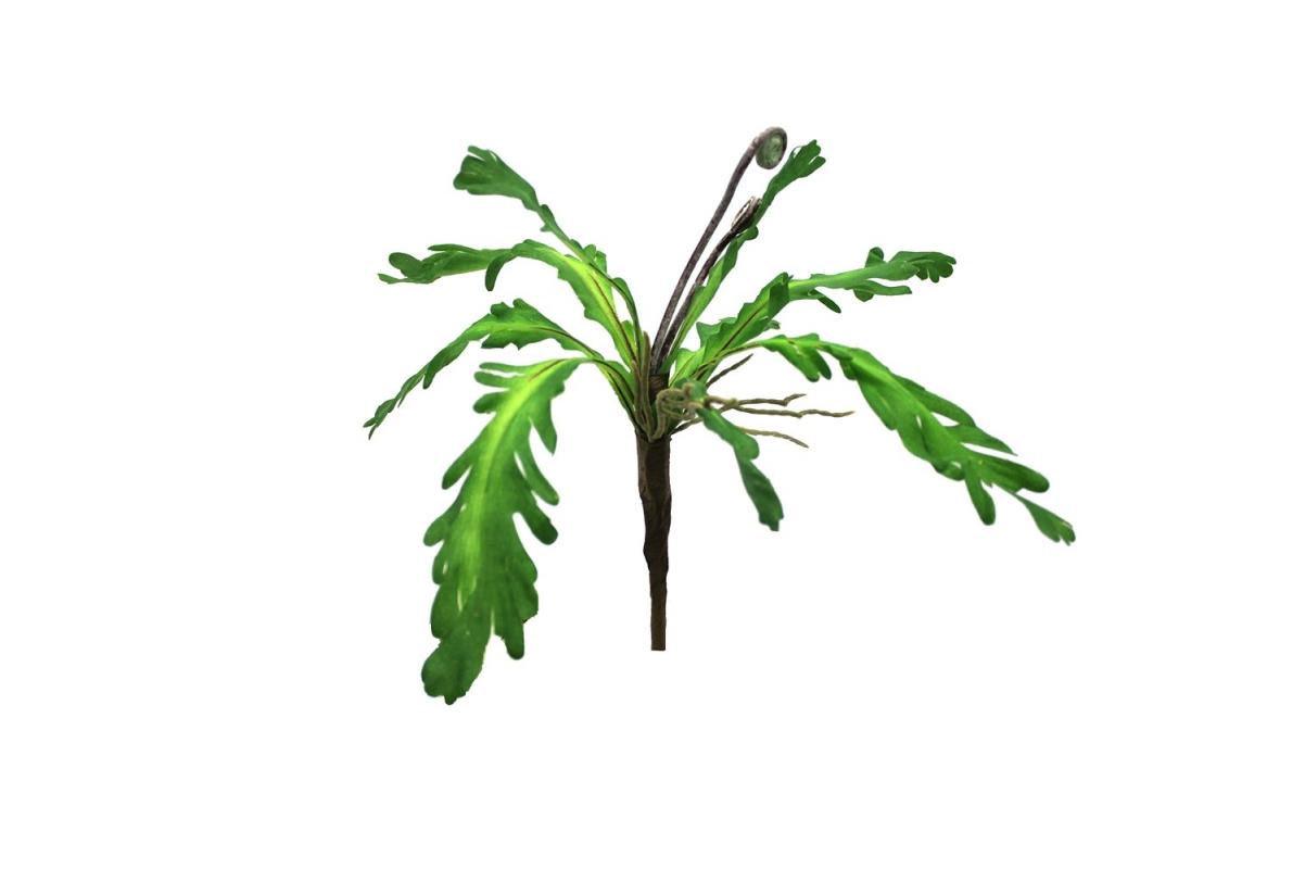 Папоротник с завитком искусственный зеленый 25 см