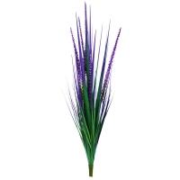Трава с узким соцветием искусственная зелено-фиолетовая 78 см
