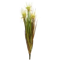 Трава с соцветием искусственная колючка зелено-коричневая 70 см