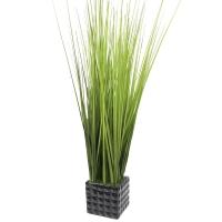 Трава искусственная высокая светло зеленая в квадратном кашпо 80 см