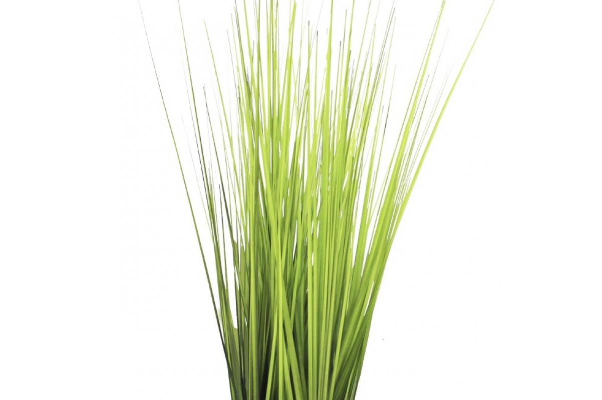 Трава искусственная высокая светло зеленая в квадратном кашпо 80 см - Фото 3