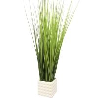 Трава искусственная высокая светло-зеленая в квадратном кашпо 80 см