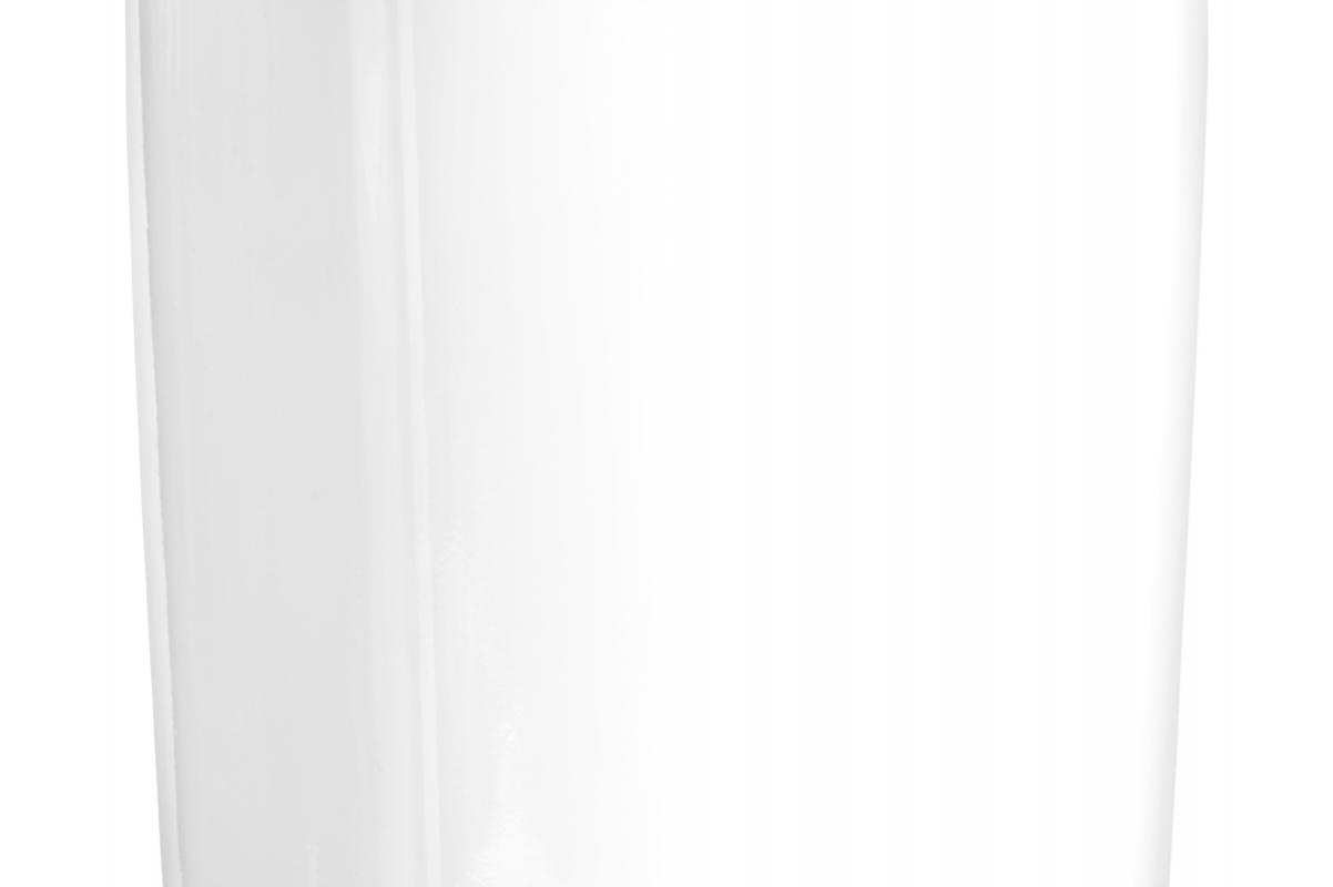 Кашпо TREEZ Effectory Gloss низкий узкий прямоугольник белый глянцевый лак от 22 до 37 см - Фото 2