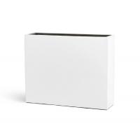 Кашпо TREEZ Effectory серия Gloss высокий дивайдер белый глянцевый лак 75 см
