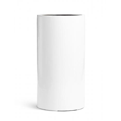 Кашпо TREEZ Effectory серия Gloss высокий цилиндр белый глянцевый лак от 60 до 80 см - Фото 3