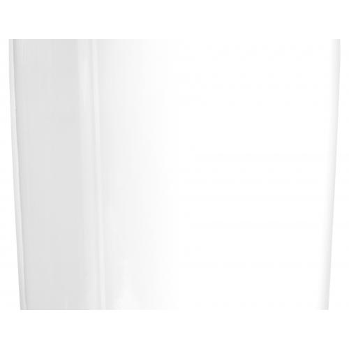 Кашпо TREEZ Effectory серия Gloss высокий цилиндр белый глянцевый лак от 60 до 80 см - Фото 4