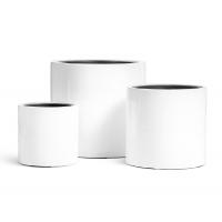 Кашпо TREEZ Effectory Gloss цилиндр белый глянцевый лак от 31 до 51 см