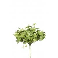 Оксалис (Кислица) искусственный куст зелено-белый 24 см