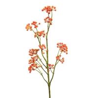 Ветвь Калины с ягодами искусственная оранжевая 80 см