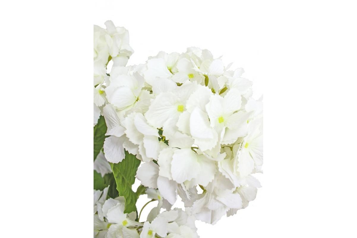 Композиция Гортензии искусственные белые в вазе с водой 56 см - Фото 4