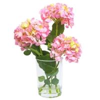 Композиция Гортензии искусственные розовые в вазе с водой 56 см