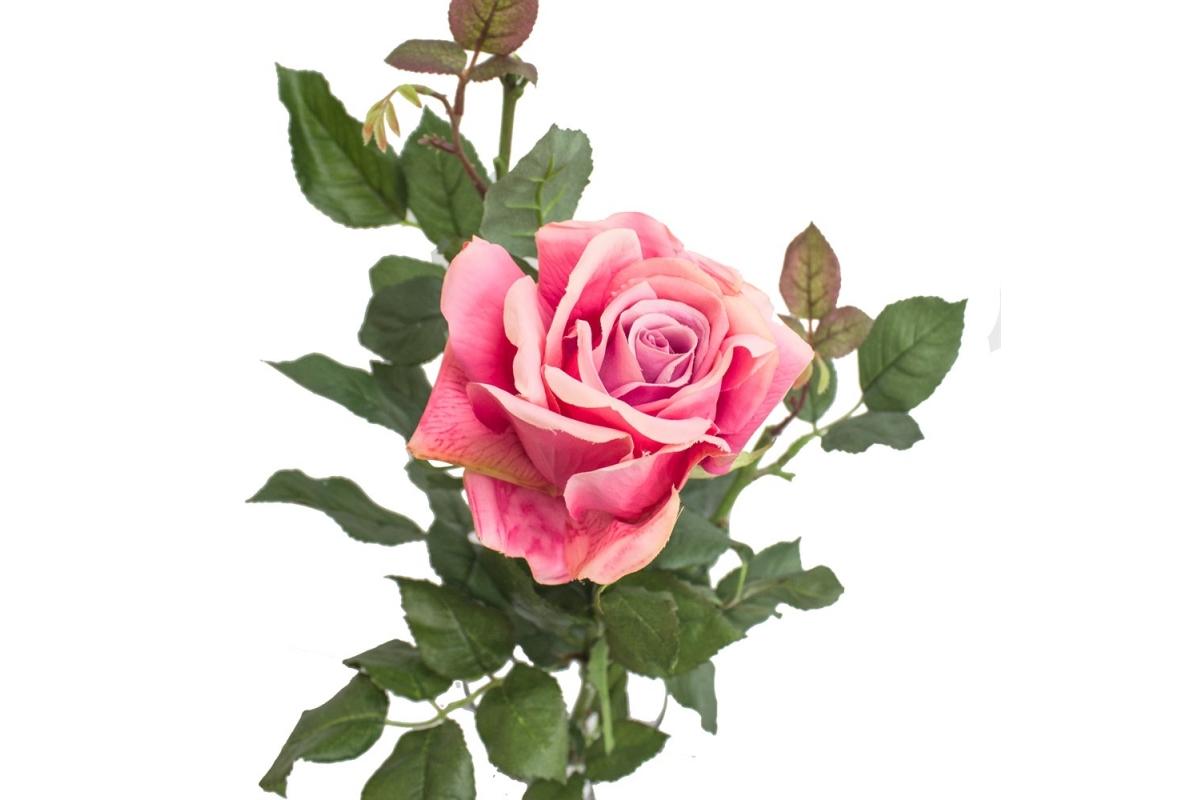 Композиция 1 Роза искусственная в стеклянной вазе леди с водой 74 см - Фото 2