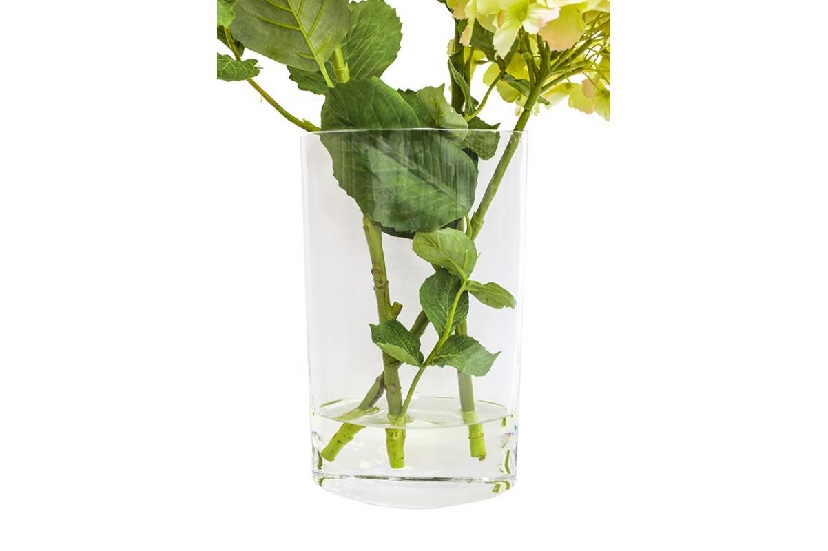 Композиция Гортензии искусственные светло-сиреневые в вазе с водой 56 см - Фото 3