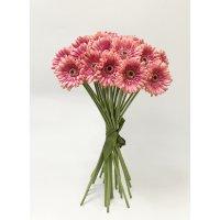 Букет из 25 розовых Гербер искусственный 60 см