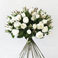 Букет из 25 белых Роз искусственный 60 см