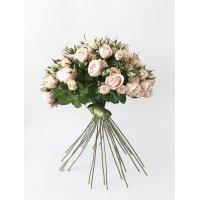 Букет из 25 Чайных Роз искусственный розовый 60 см