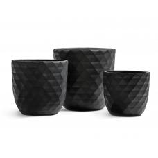 Кашпо Treez Ergo Diamond чаша конус антрацит от 29 до 43 см