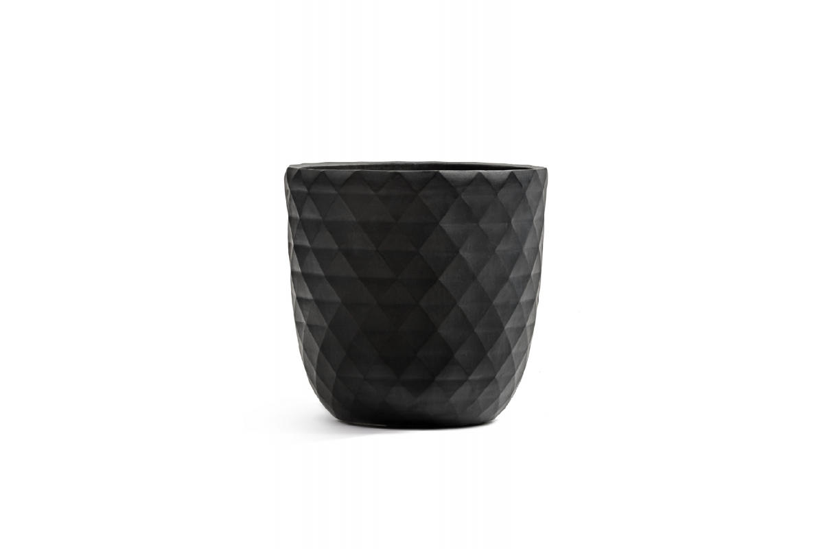 Кашпо Treez Ergo Diamond чаша конус антрацит от 29 до 43 см - Фото 2