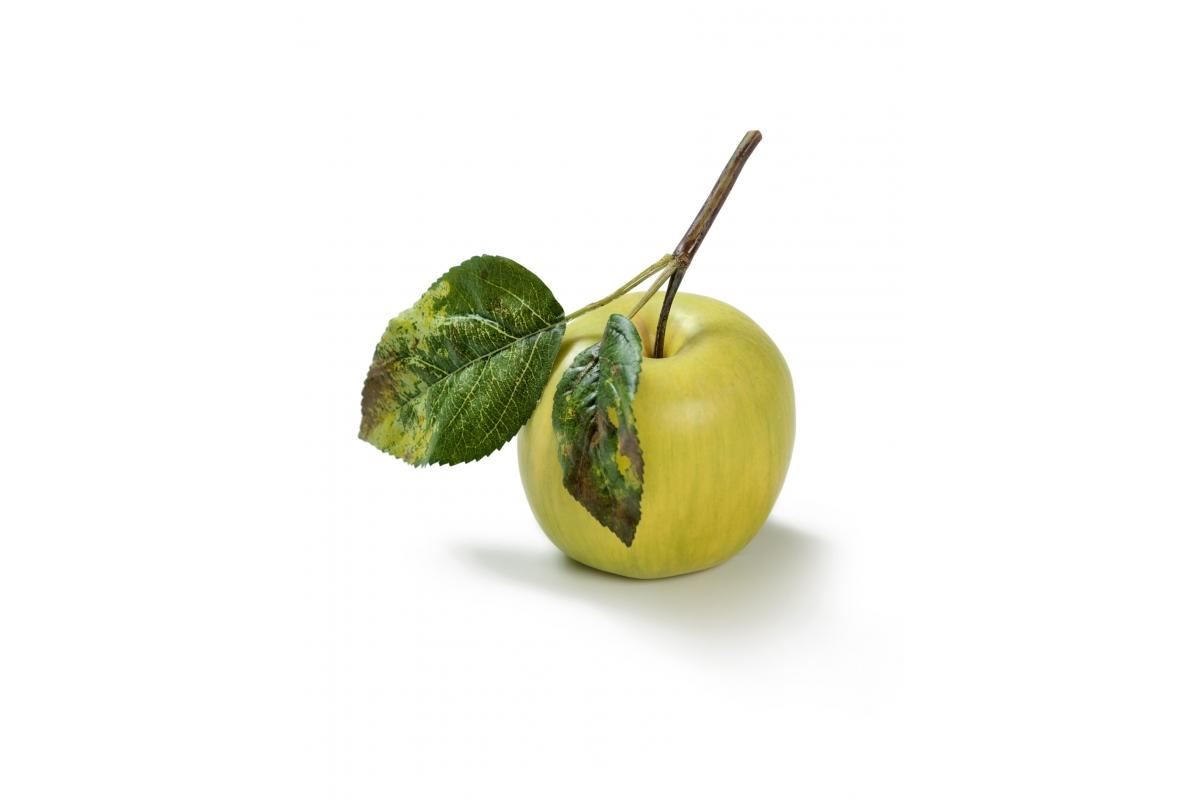 Яблоко на веточке искусственное нежно-зеленое 7 см
