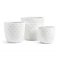 Кашпо Treez Ergo Diamond чаша конус белая от 29 до 43 см