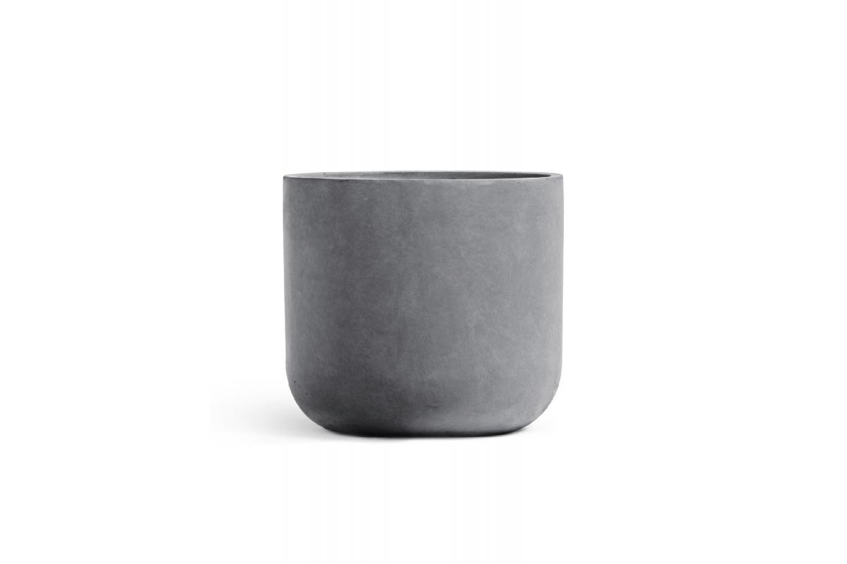 Кашпо Treez Ergo Just цилиндр светло-серый камень 27 до 40 см - Фото 2