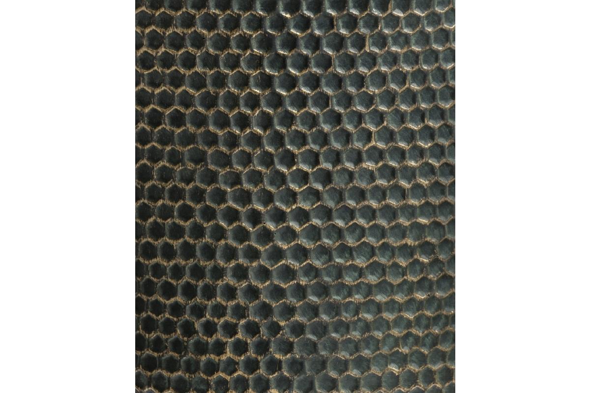 Кашпо TREEZ ERGO Oriental цилиндр окись с золотой патиной от 23 до 37 см - Фото 3