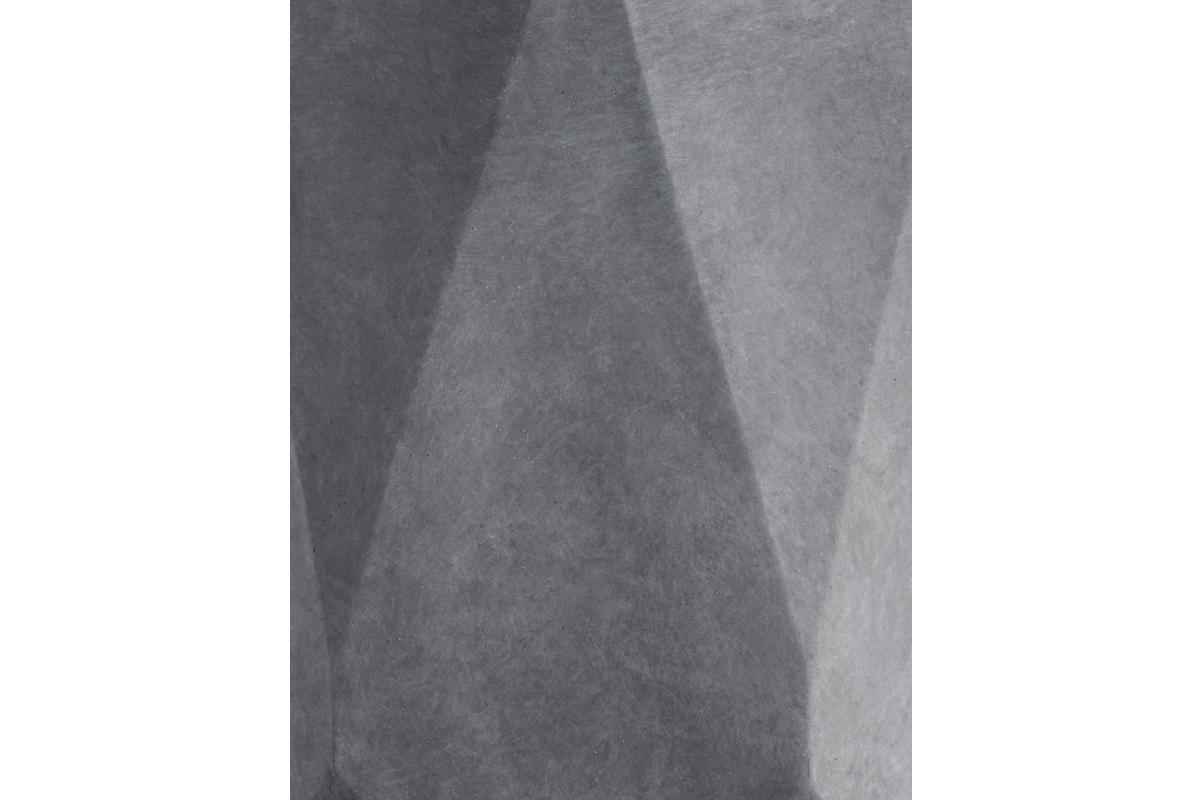 Кашпо TREEZ ERGO Rombo цилиндр многогранник светло-серый камень от 30 до 52 см - Фото 3
