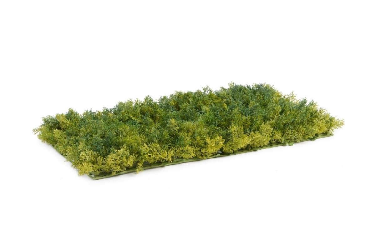 Мох Ягель искусственный зелёный микс 25 x 50 см (коврик) - Фото 2