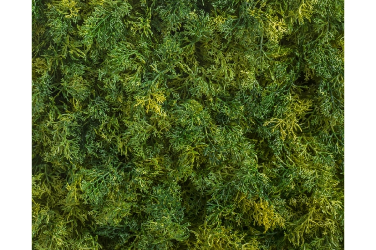 Мох Ягель искусственный зелёный микс 25 x 50 см (коврик) - Фото 3