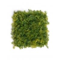 Мох Ягель искусственный зелёный микс 25 x 25 см (коврик)
