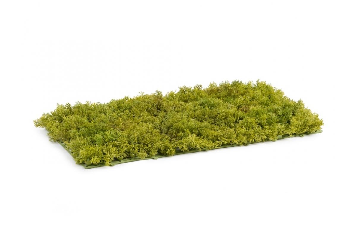 Мох Ягель искусственный светло-зеленый микс 25 x 50 см (коврик) - Фото 2