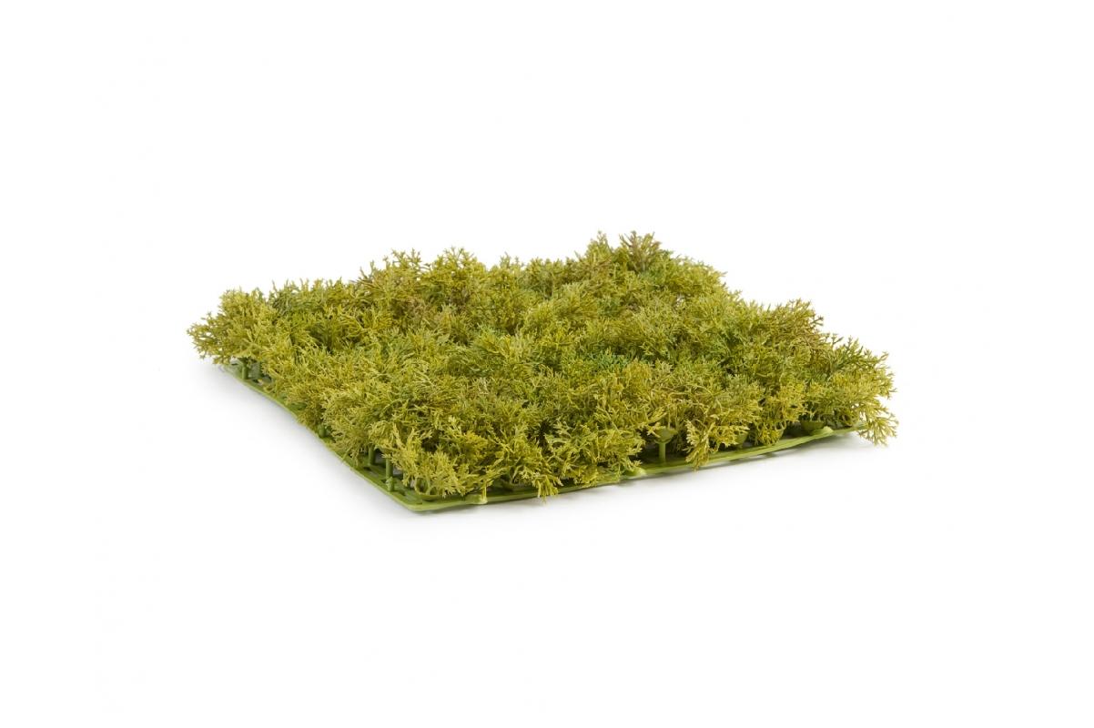 Мох Ягель искусственный светло-зелёный микс 25 x 25 см (коврик) - Фото 2