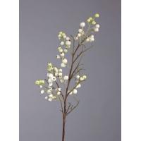 Ветка с крупными бело-зелеными ягодами искусственная 47 см