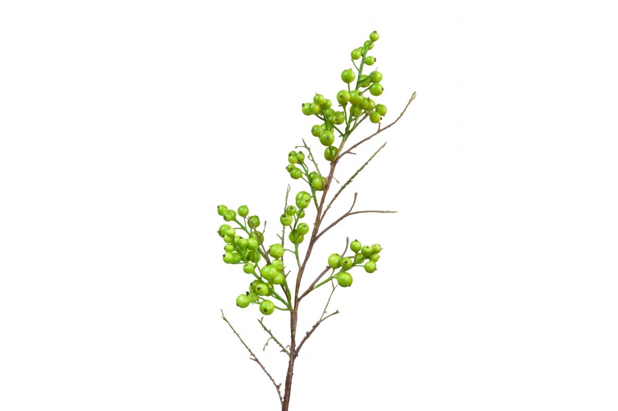 Ветка с крупными зелеными ягодами искусственная 47 см